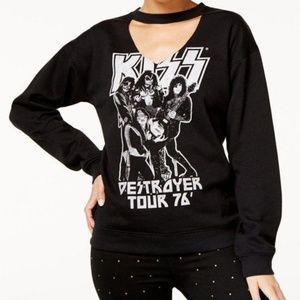 Freeze 24-7 Juniors Kiss Choker Sweatshirt